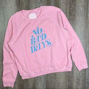 ban.do Bubblegum Pink No Bad Days Sweatshirt XL